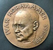 """Finland Bronze Art Medal """"Ivar Hornammer"""" 1953 / #251/400 / 70 mm 265 gr / N135"""