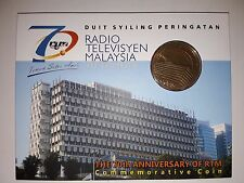 Malaysia 70th Anniversary RTM Coin Card 2016 BU