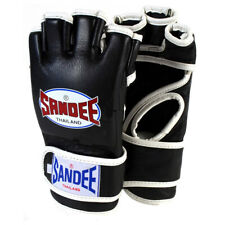 Sandee Leather MMA Fight Gloves - Small - Black/White
