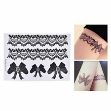 Temporary Tattoo Tattoo Leg Portion Sexy Stockings Lace Tattoo Stickers Black EF