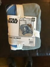 Star Wars Plush Blanket 62x90 blue new with tags #35378