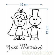 Just Married Aufkleber Hochzeit Brautpaar Sticker Liebe Love Trauung Ehe JGA