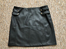 Faux Leather Skirt Next Size 8 Black Zip