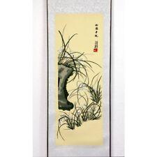Rollbild Chrysantheme chinesische Bildrolle gestickt China