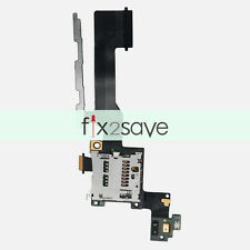Sim Card Reader SD Holder Slot + Power Volume Button Flex Cable For HTC One M9