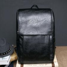 Men's vintage Leather backpack rucksack bag laptop casual travel school bags