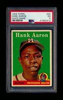 1958 Topps #30 Hank Aaron White Name Braves PSA 5 EX *K0412