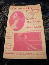 Partitura L'alma de las rosas Texto Hindú Alice montero renacer de Buxeuil 1924