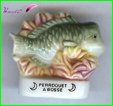 "Feve de collection Poisson Fish Edition Atlas "" Le perroquet à Bosse "" #E23"