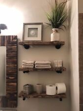 "6"" Deep Industrial Floating Shelf, Rustic Shelf, Pipe Shelf, Industrial"