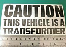 VW Caution Transformer Camper/Car/Van/Fridge/Laptop Vinyl Decal Sticker