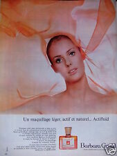 PUBLICITÉ 1967 BARBARA GOULD MAQUILLAGE LÉGER AVEC ACTIFLUID - ADVERTISING