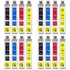 16 Cartuchos De Tinta No-OEM para reemplazar T0711 T0712 T0713 T0714 T0715
