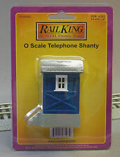 MTH RAIL KING TELEPHONE SHANTY o gauge trains phone blue shed building 30-90002