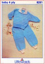 """~ Littlewoods Bebé Tejer patrón para Stripy Jumper & Pantalones ~ 16"""" ~ 22"""" ~"""