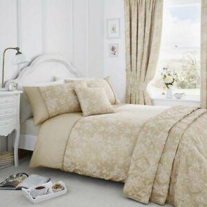 Serene Jasmine King Size Floral Duvet Cover Bedding Set Champagne (887)