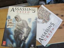 Assassins Creed Game Guide with Pull Out Map 2007 ISBN 0 7615 5557 9 Preowned 07
