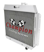 2 Row RS Champion Radiator for 1949 - 1954 Chevy Cars Inline 6 Cylinder Engine