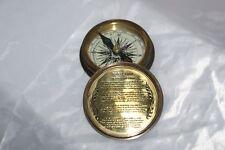 Bussola Robert Frost con calendario nautico da navigazione Stanley London Navy