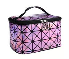 Multifunctional Cosmetic Bag for Women Leather Travel Make Up cash pouch Kit Bag