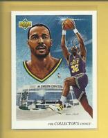 Karl Malone 1992-93 Upper Deck Team Checklist Card # 44 Utah Jazz Basketball NBA