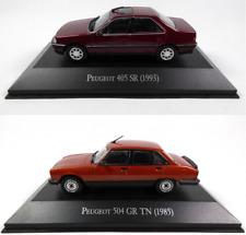 Lot de 2 Peugeot 405 SR + 504 GR 1/43 Voiture Miniature Diecast Model Car LAQV1