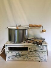 Whirley Pop Genuine Hand Crank Poping Machine USA 6 Quart NIB