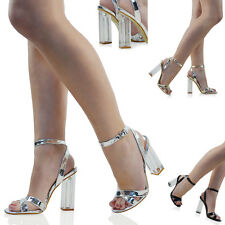Womens High Clear Heels Sandals Ankle Strappy Ladies Peep Toe Shoes Size 3-8