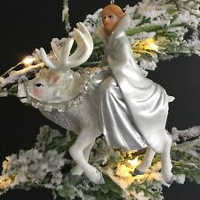 Ice Princess Reindeer Stag Christmas Tree Decoration Snow Queen Gisela Graham