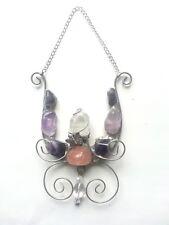 Butterfly Amethyst Rose Quartz gemstones Crystal  window wall decoration xmas