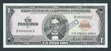 F.C. REPUBLICA DOMINICANA , ESPECIMEN , 1 PESO ORO 1975 , S/C ( UNC ) , P.108s .