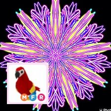 Original Custom Picture With FREE Roblox Mega Neon Parrot Fly/Ride Adopt Me!