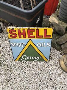 Enamel Sign Shell Garage