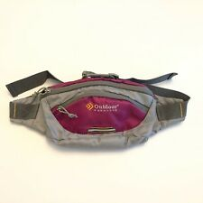 Outdoor Products Fanny Waist Pack Bag Purple Gray Adjustable