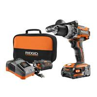 "RIDGID R86116K 18 Volt Lithium Ion 1/2"" Cordless Compact Hammer Drill Combo Kit"