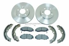 for HONDA CRV CR-V 2.0 1997-2001 FRONT NEW BRAKE DISCS AND PADS SET & REAR SHOES