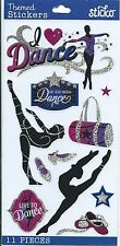 Sticko I LOVE DANCE Glitter Scrapbook Stickers