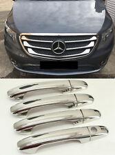 2014up Mercedes vi̇to W447 7 Chrome Front Grill & Chrome poignée de porte 4 4 PORTES. Acier