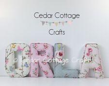 Fabric letters Wall Art Personalised Handmade Nursery name, girl, boy, new baby