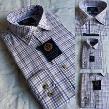 Viyella Luxury Formal Shirt, Warm Cotton, Size 17.5 (X-Large), Lilac/Beige, BNWT