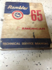 1965 AMC Rambler American Service Shop Workshop Repair Manual FACTORY OEM