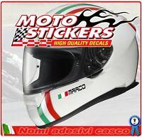 2 Nomi adesivi casco + bandiera - per mentoniera casco moto auto - motostickers