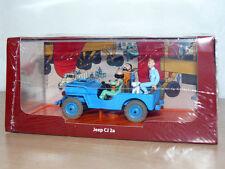 TINTIN Herge Coche JEEP CJ 2a Objetivo: la Luna -Objetif Lune miniature car 1/43