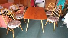 Ercol Dining Room Table and 4 Chairs with Original Cushions