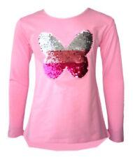 T-shirts, hauts et chemises roses col rond en polyester pour fille de 2 à 16 ans