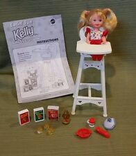 """Eatin' Fun Kelly in High Chair """"Baby Sister of Barbie Doll"""" 1997 #18582 Mint"""