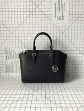 Michael Kors Ciara Large Top Zip Black Saffiano Leather Satchel Crossbody Bag