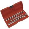 """Sealey Oil Drain Plug Key Set 21pc 3/8""""Sq Drive - AK6586"""