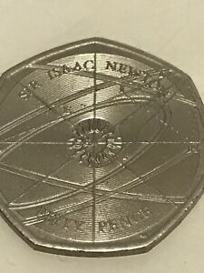 2017 Sir Isaac Newton 50p Coin