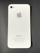 Apple iPhone 4 Glass Back Battery Cover - Colour: White - Model A1387